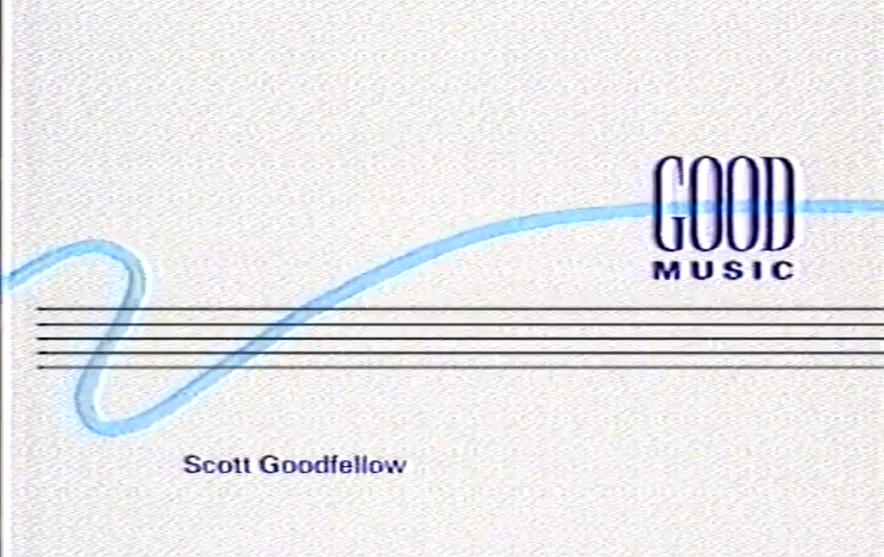 Good Music Productions 1980's business card