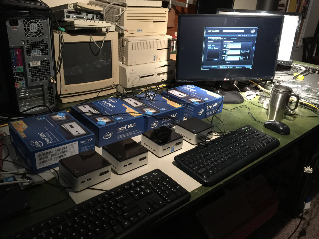 Intel  / WIN10 SSD Client builds with 1990's GoodMedia servers in background